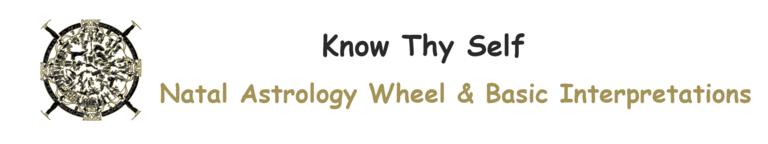 cx Know Thy Self : Natal Astrology Wheel with Natal Interpretations