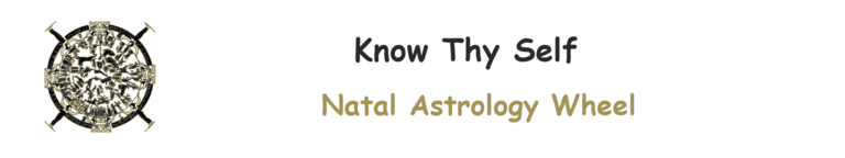 Know Thy Self : Natal Astrology Wheel