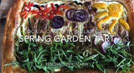 Paula's Lockdown Pantry - Spring Garden Tart with Blueberry Frozen Yoghurt